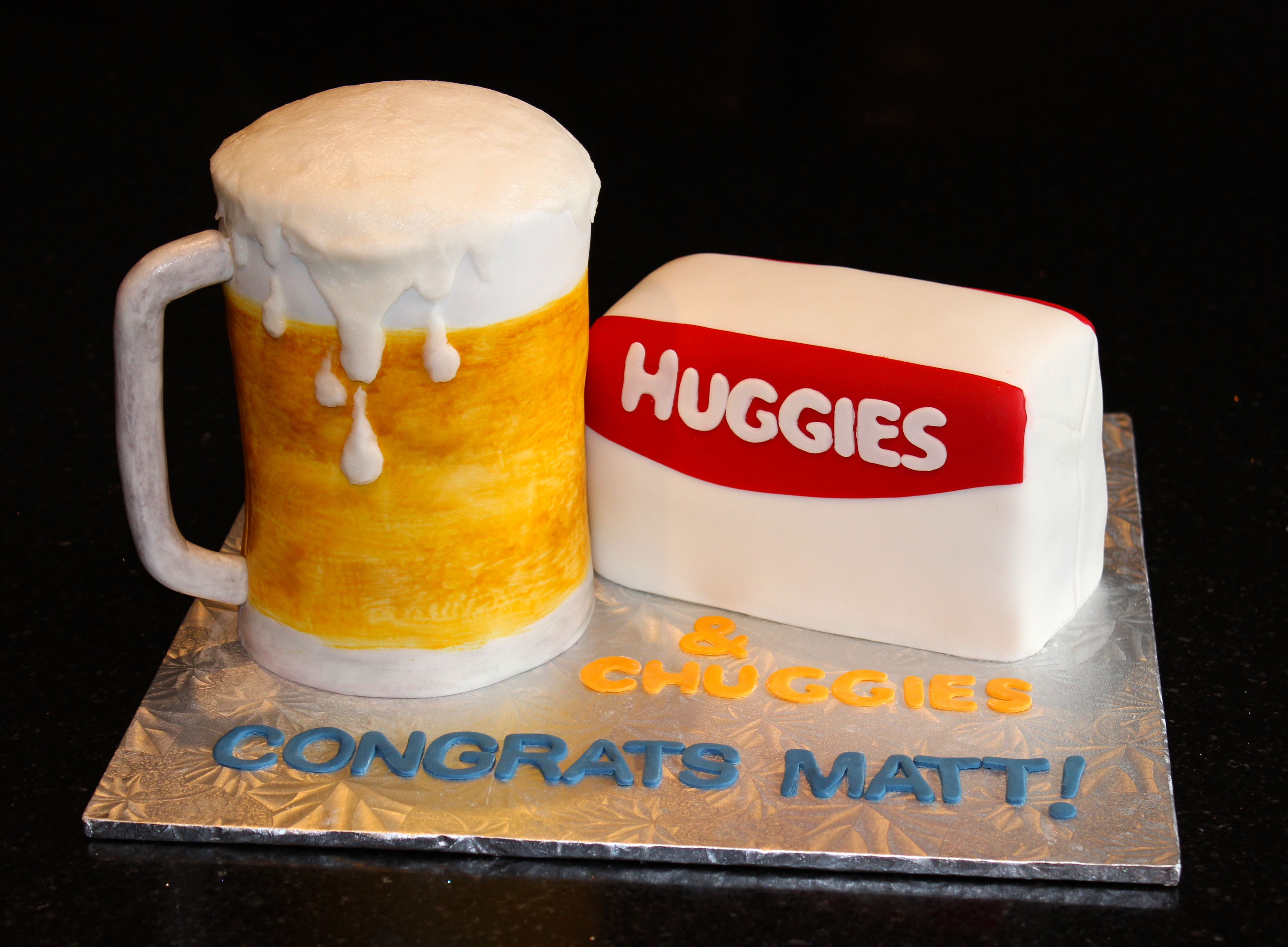3D Huggies and Chuggies Diaper Party Cake