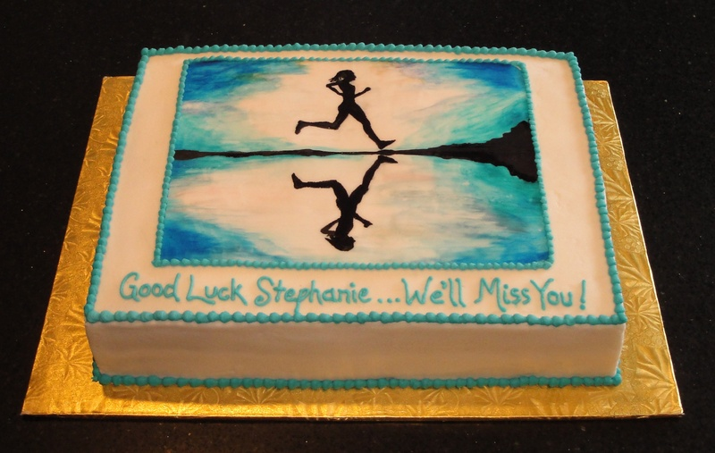 Good Luck Cake - Runner Theme