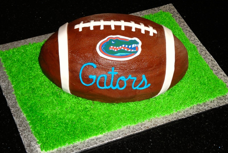 Florida Gators 3D Football Grooms Cake