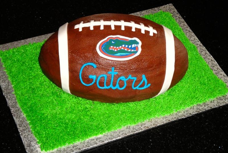 Florida Gators 3D Football Grooms Cake