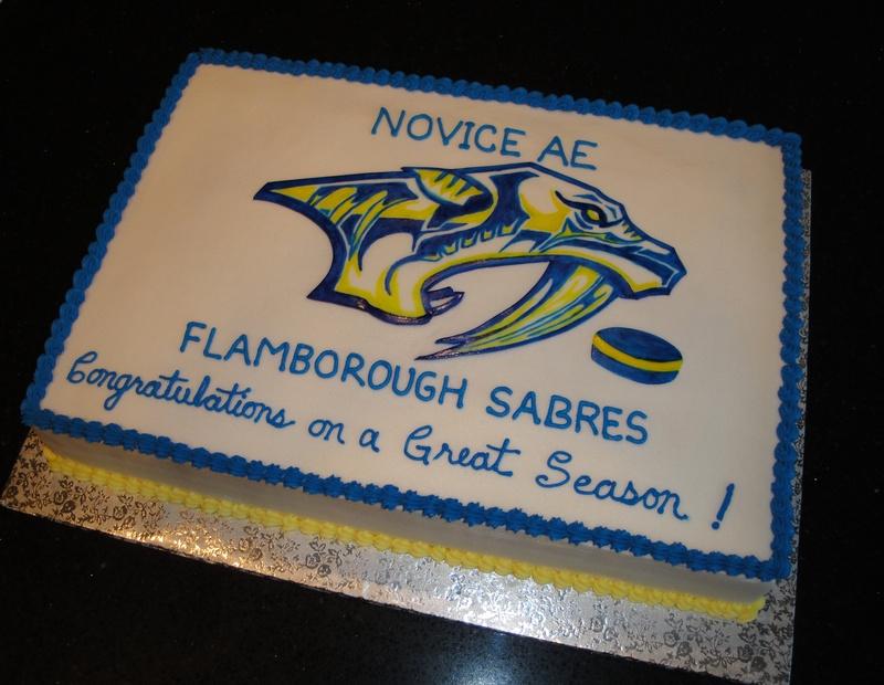 Flamborough Sabres Hockey Celebration Cake