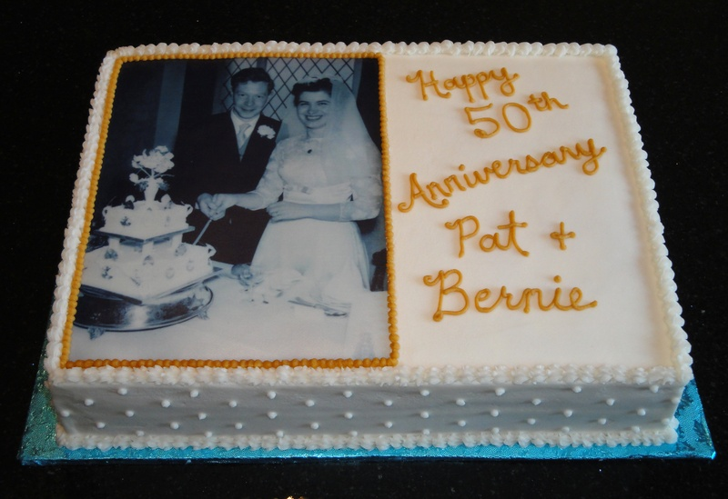 50th Anniversary Celebration Cake