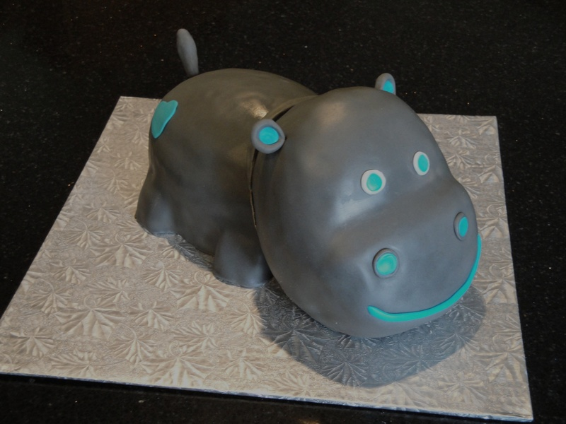 Baby Shower Hippo Cake