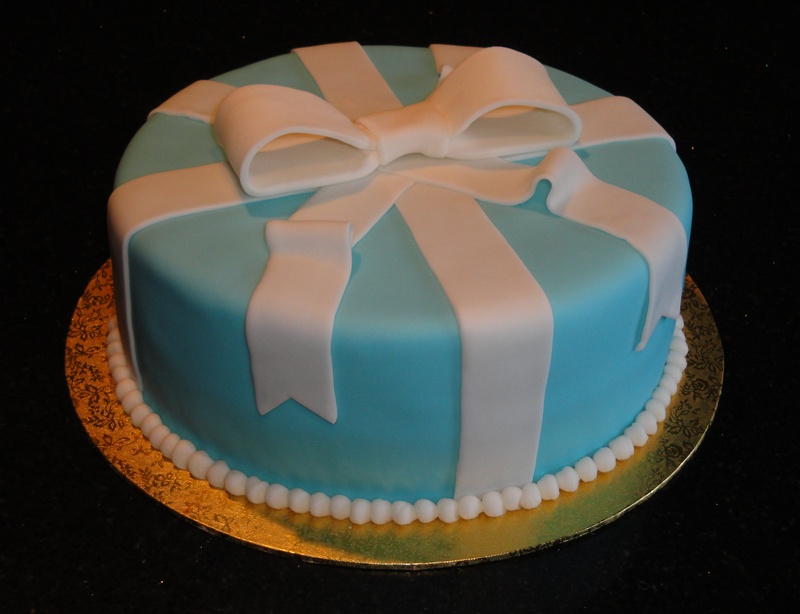 Tiffany Blue Present Cake