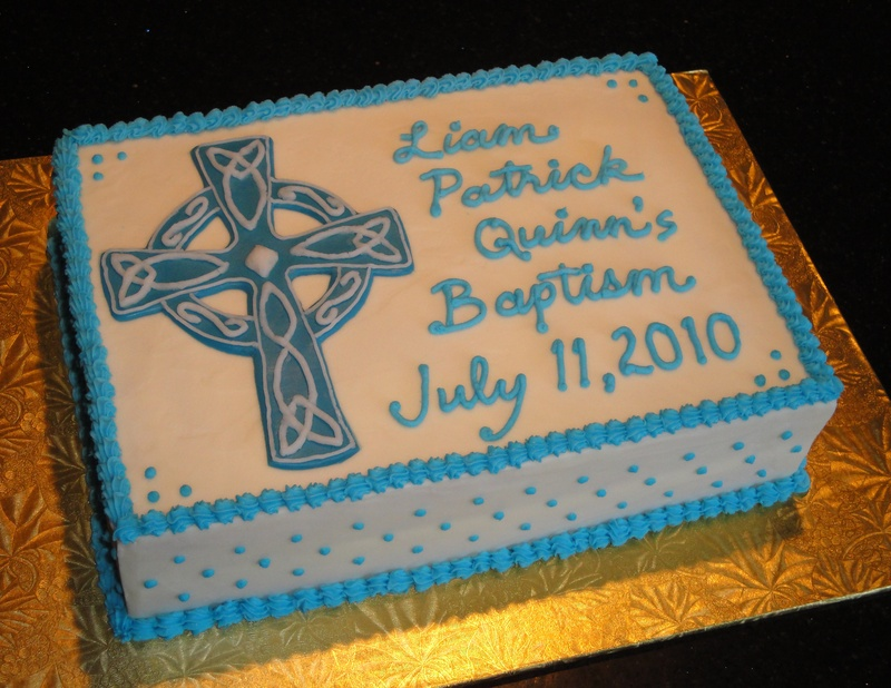 Baptism Cake for Liam