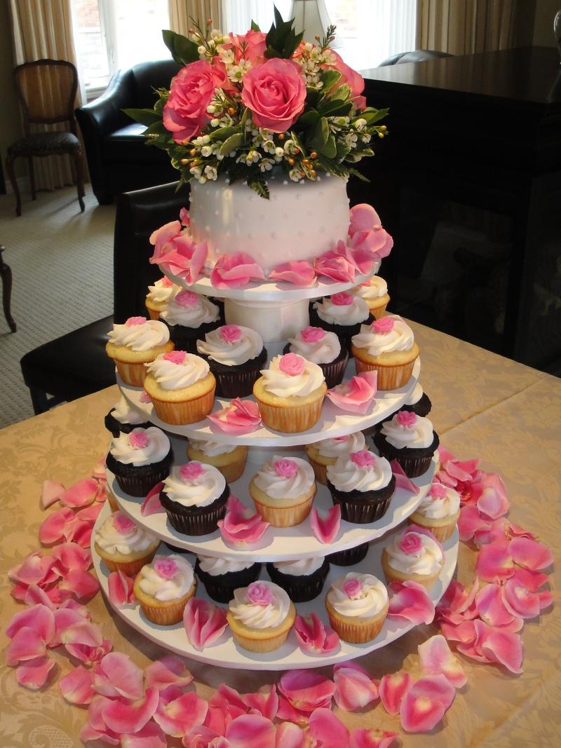 Pink Roses - Anniversary Cupcakes