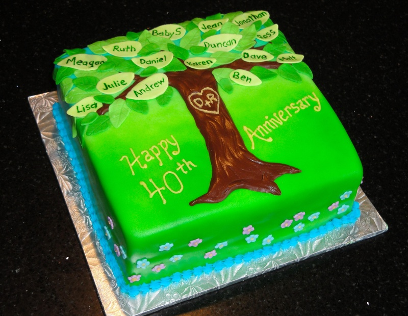 Family Tree Anniversary Cake