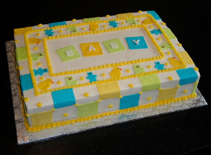 Baby Blanket Themed Baby Shower Cake