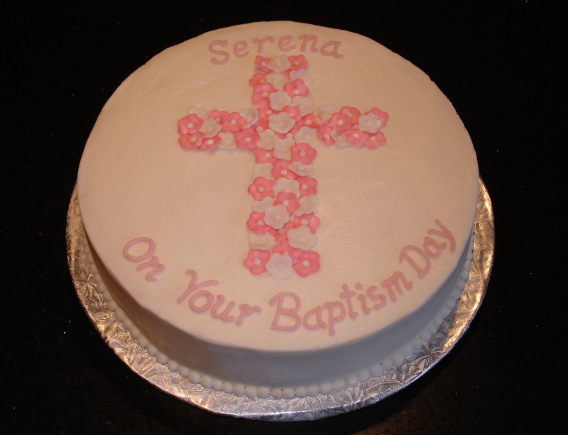 Baptism Cake - On Serena's Baptism Day