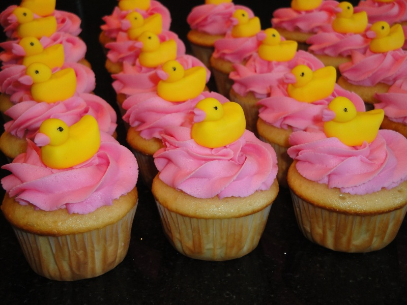Rubber Ducky Theme Cupcakes