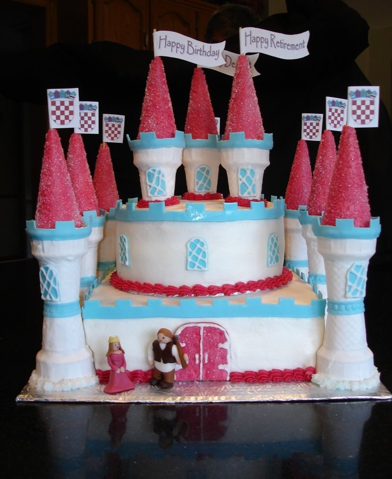 Retirement Celebration Castle Cake