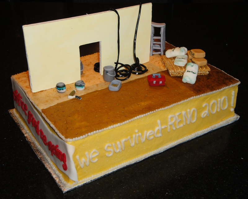 We Survived Reno/Under Construction Cake