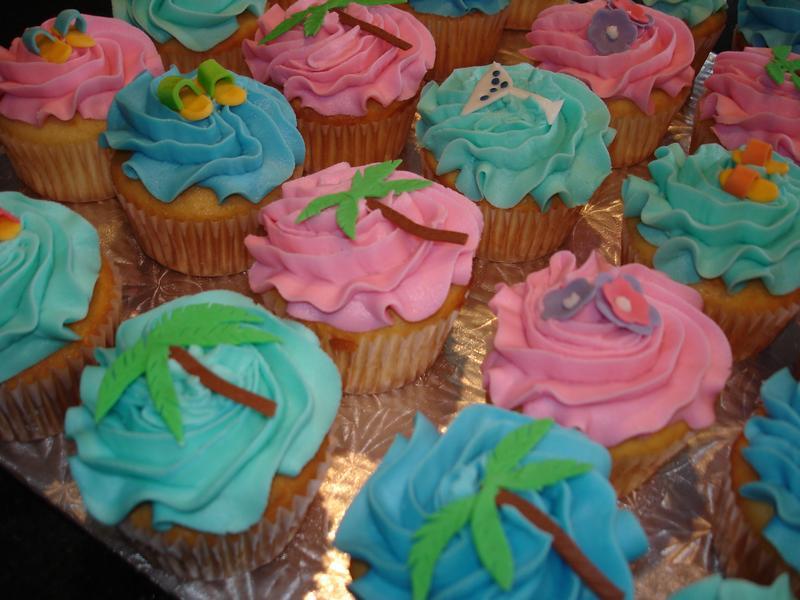 Cuban Theme Bridal Shower Cupcakes