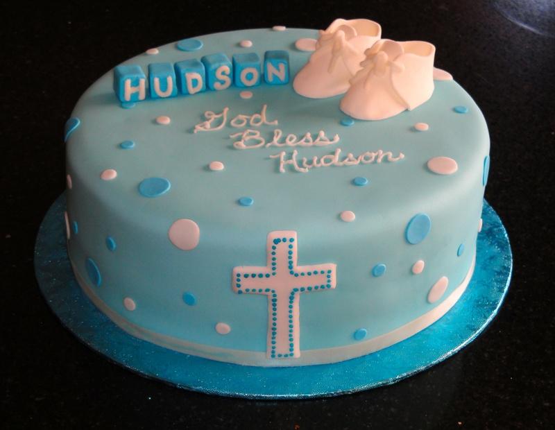 Baptism cake for Hudson