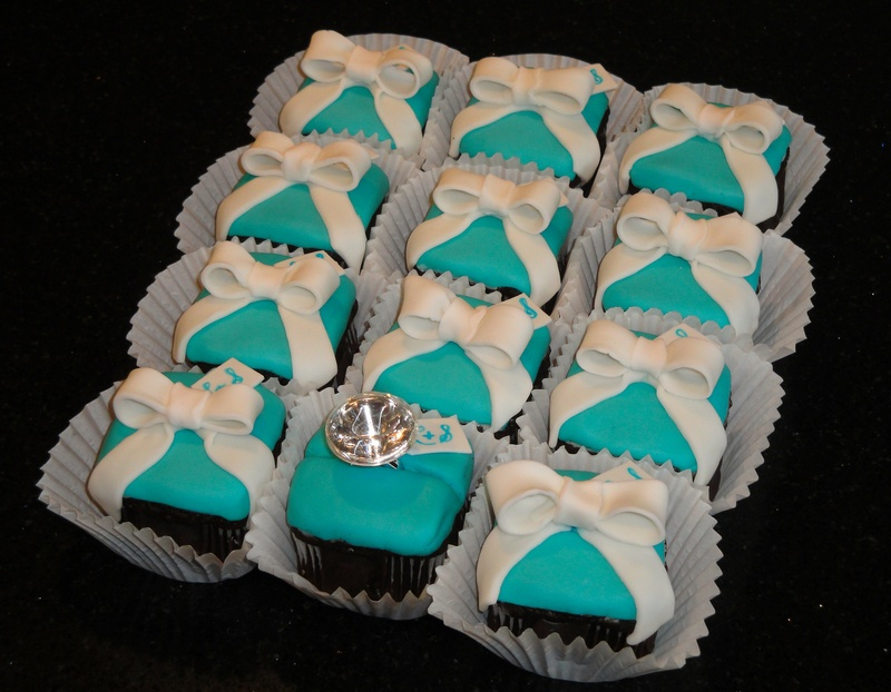 Tiffany box Engagement Ring Cupcakes