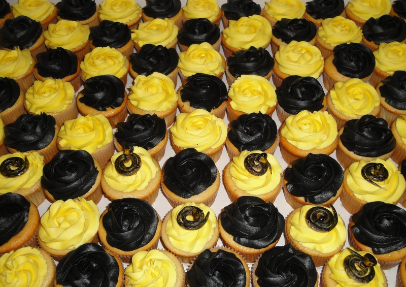 Corporate Cupcakes with Cobra Toppers