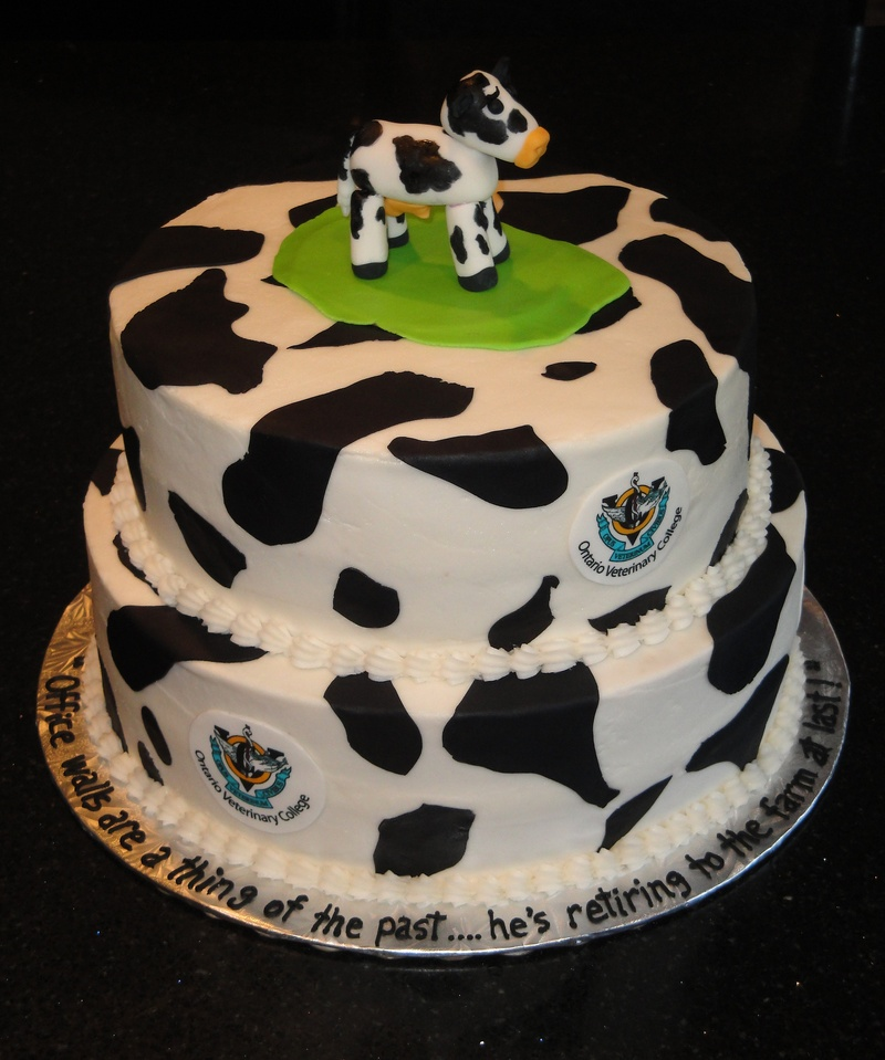 Retirement Cake - OVC Cow Theme