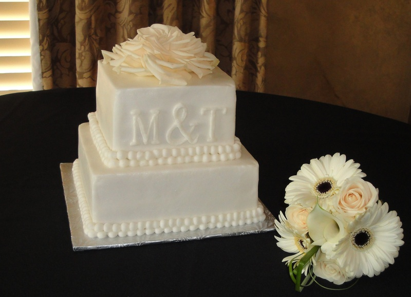 Monogram Wedding Cake