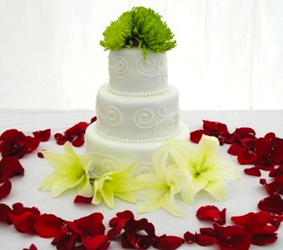 Wedding cake with Fondant Applique