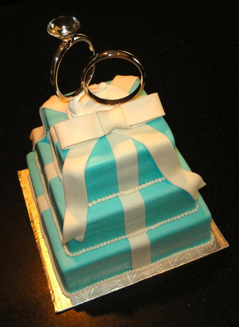 Tiffany Boxes & Rings Wedding Cake