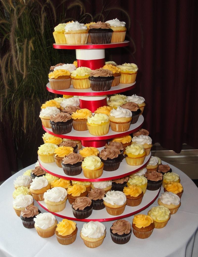 Multi Coloured Wedding Cupcakes