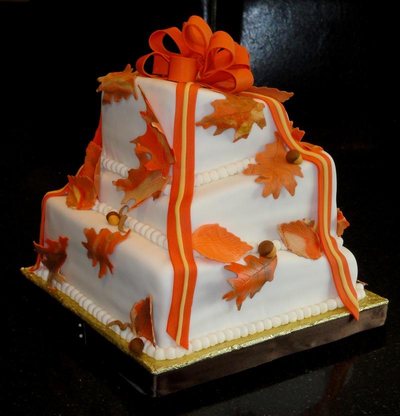 Square Wedding Cakes Fall