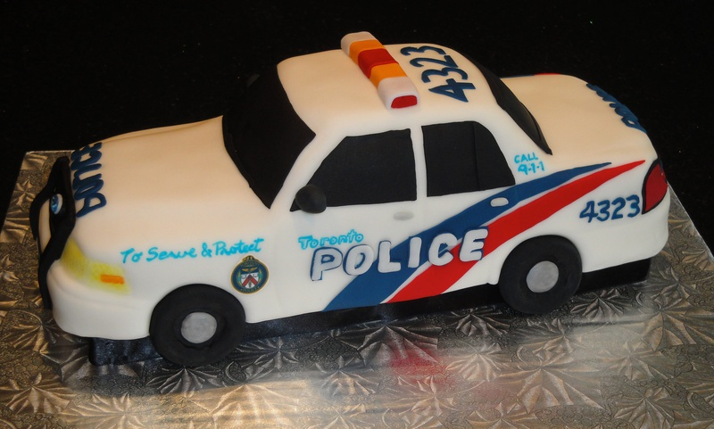 Groom's Cake  3D Toronto Police Car
