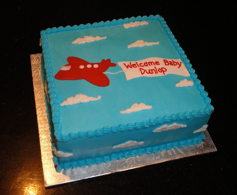 Baby Shower Air Plane Cake