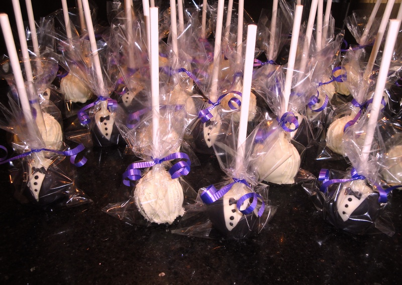 Engagement Party Bride & Groom Cake Pops