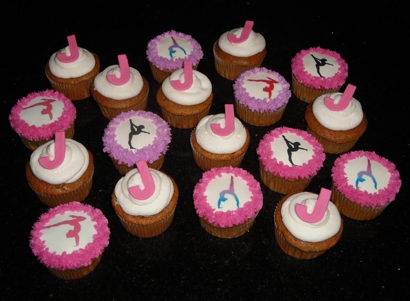 Gymnast Theme Cupcakes