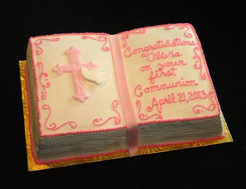 1st Communion Bible Cake