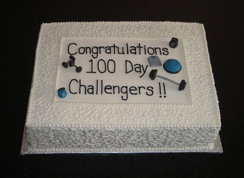 Flynn Fitness 100 Day Challenge Cake