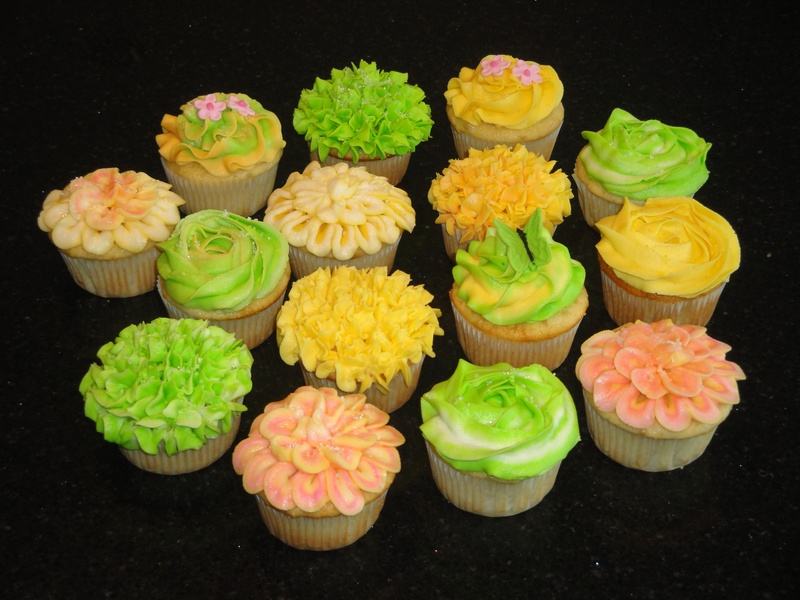 Fancy Flower Cupcakes