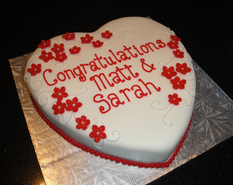 Heart Shaped Engagement Cake