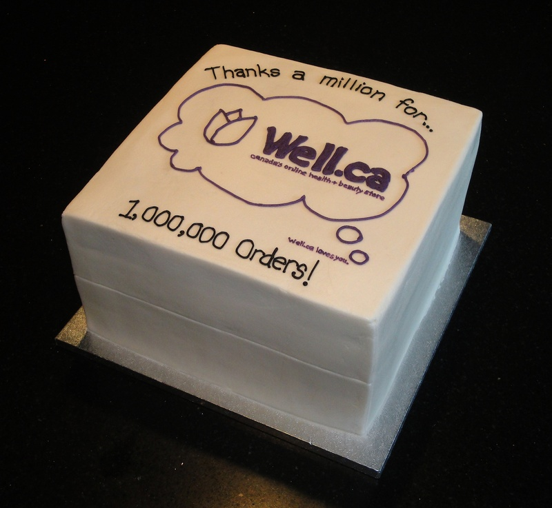 Well.ca 3D Shipping Box Cake