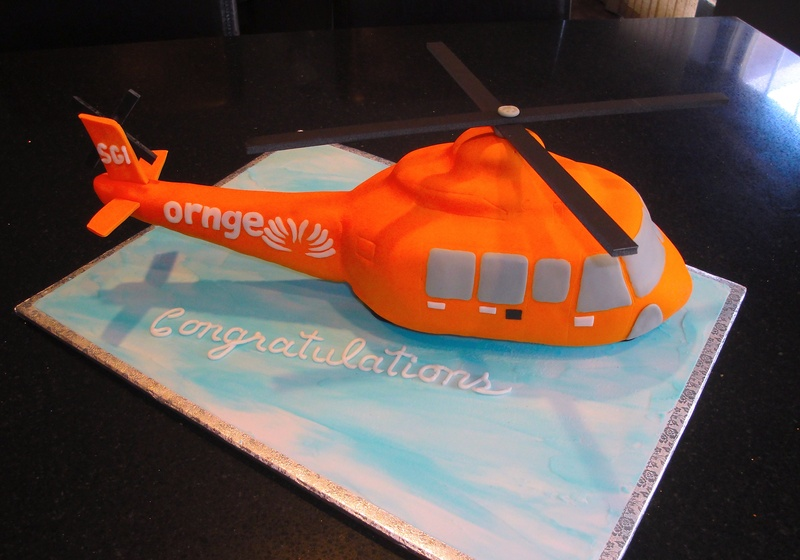 3D Ornge Helicopter Cake
