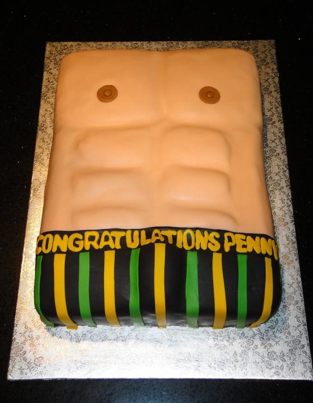 Jamaican Theme 3D Abs Cake