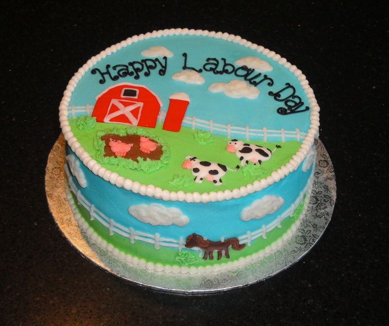 Baby Shower Farm Theme Cake
