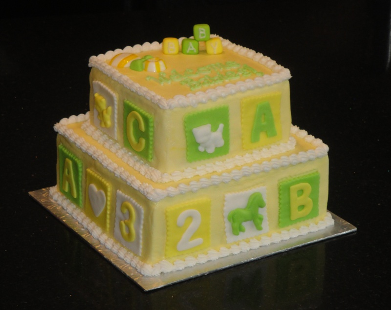 2 Tiered Baby Shower Cake