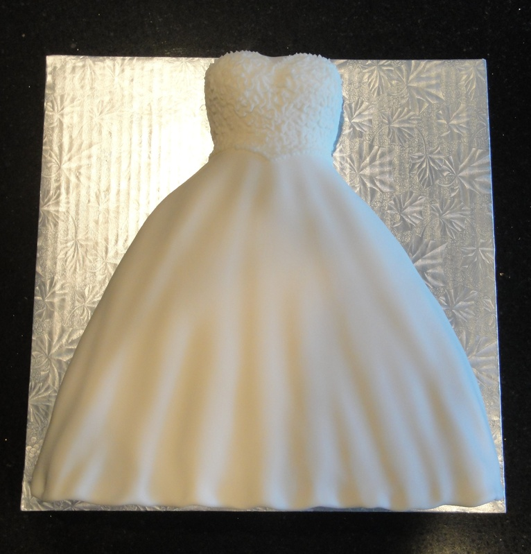 Bridal Shower Wedding Dress Cake