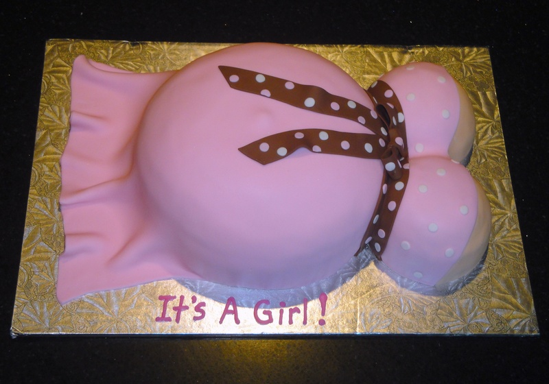 3D Baby Bump Shower Cake
