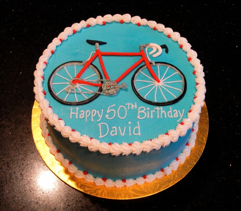 50th Birthday Bicycle Theme Cake
