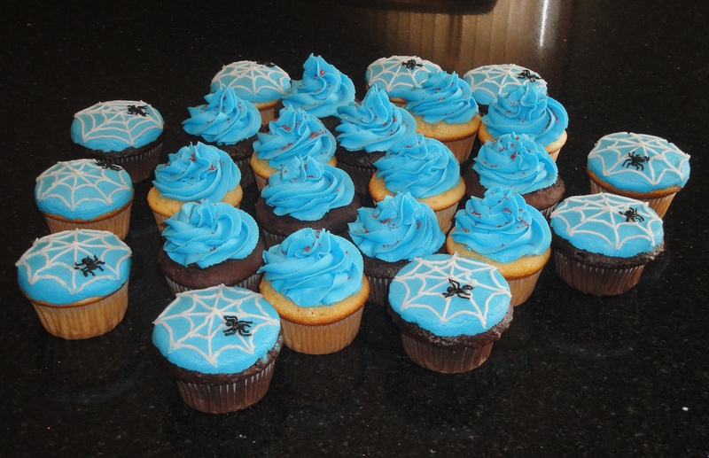Spiderman Inspired Cupcakes