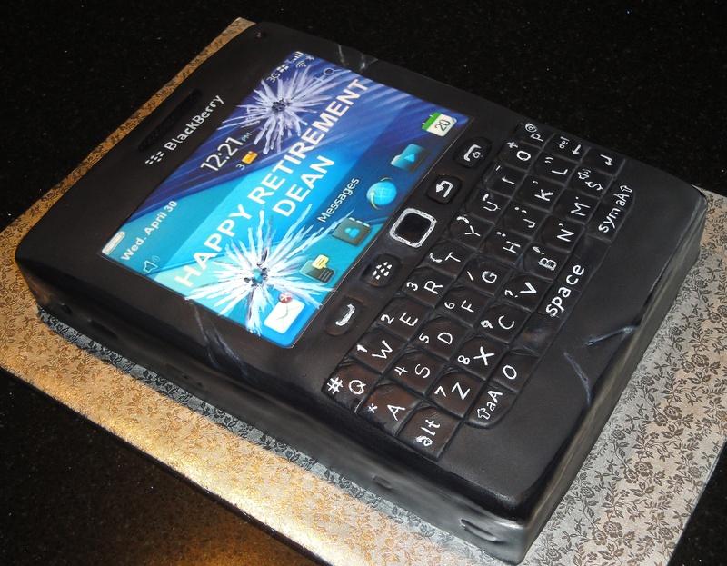 3D Blackberry Cell Phone Retirement Cake