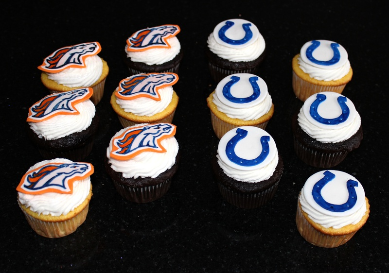 Broncos & Colts Cupcakes