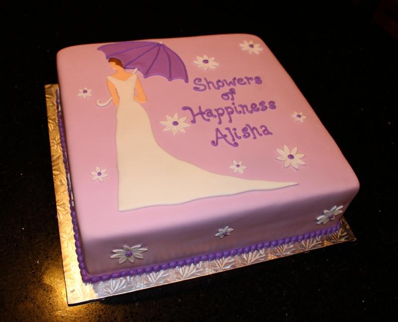 Bidal Shower Cake in Purples & White