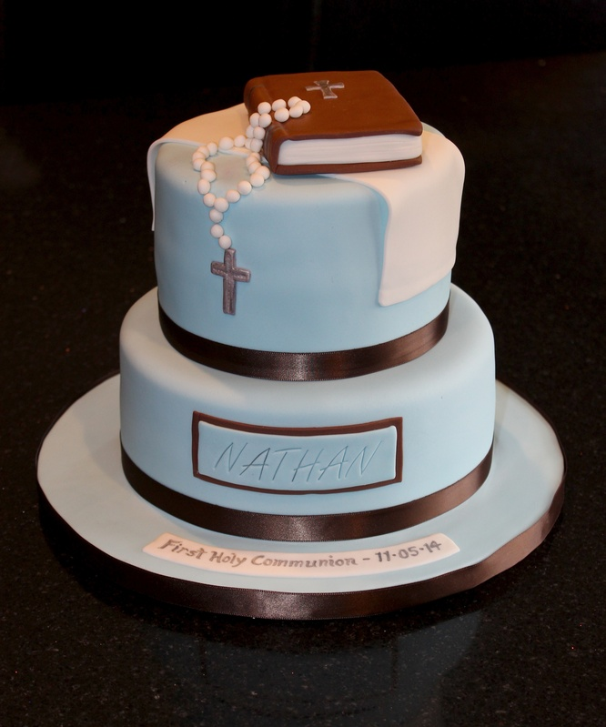 2 Tiered First Communion Cake