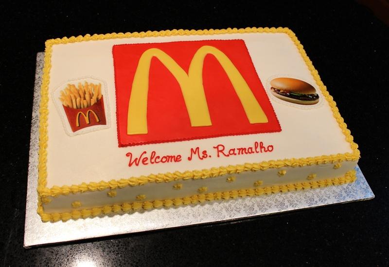 McDonalds Theme Cake