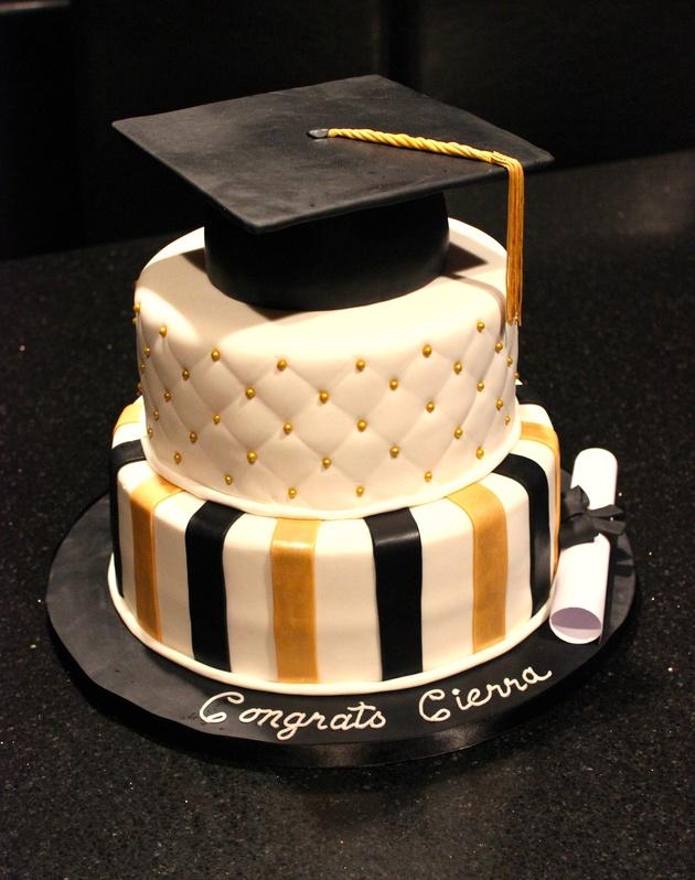 3 Tiered Graduation Cake
